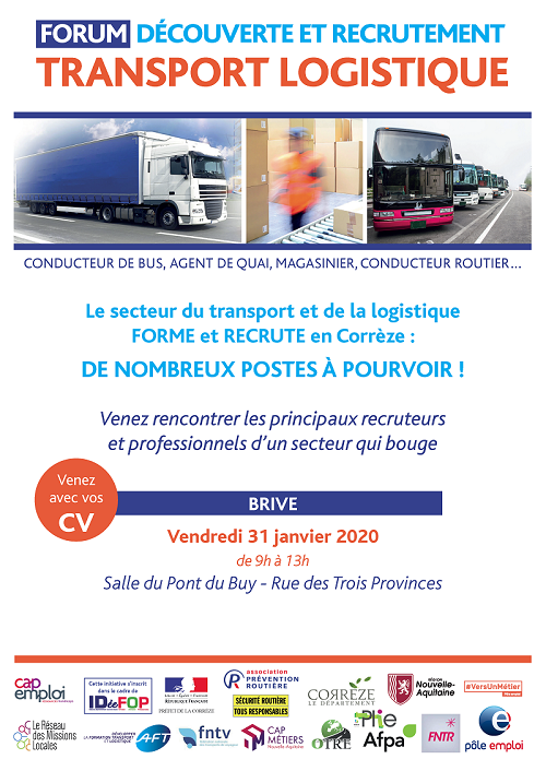 Affiche Forum Transport Logistique de Brive